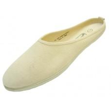 S262L-Beige - Wholesale Women's Mule Slip-On Canvas Shoes (Closeouts $1.00/Pr. Case $36.00)